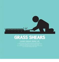 Grass shears vector