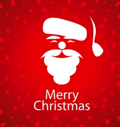 logo Santa Claus on a red background vector image vector image