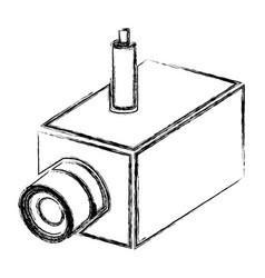 monochrome sketch of interior video security vector image