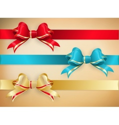Set of gift bows with ribbons EPS 10 vector image vector image