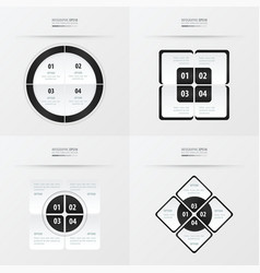 set of presentation template black and white color vector image