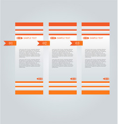 Business infographics template orange color vector