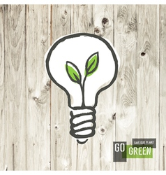 green eco energy concept lightbulb vector image