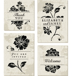 Modern Floral Template vector image