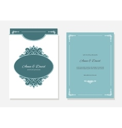 Wedding envelope template laser cutting vector image vector image