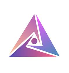 abstract logo design logo triangle template vector image