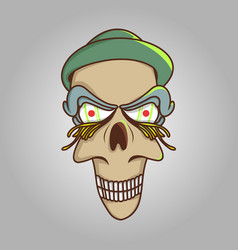 head cartoon character vector image vector image