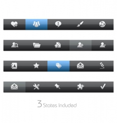 internet and blog bars vector image vector image