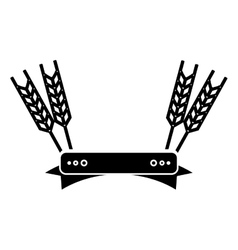 Isolated wheat ear with ribbon design vector image vector image