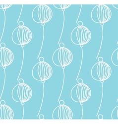 light blue decoration floral pattern vector image