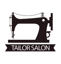 tailor salon advertising logo vector image vector image