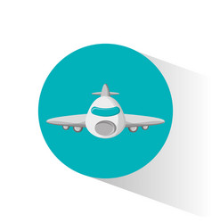airplane passenger flying icon vector image