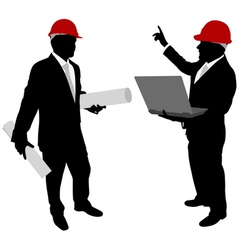 businessmen with hard hat vector image vector image
