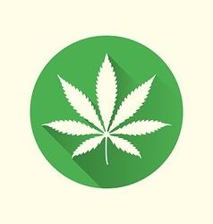cannabis marijuana flat design icon vector image
