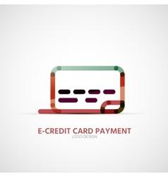 Credit card company logo business symbol concept vector