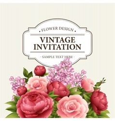 Floral frame with flowers Floral bouquet with vector image vector image