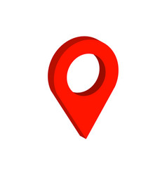 map pointer symbol flat isometric icon or logo 3d vector image vector image