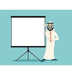 Vintage successful arab businessman traditional vector