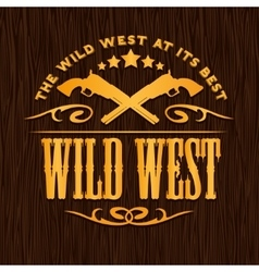 Wild west vintage artwork for boy wear on vector image vector image