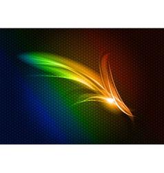 Abstract arrow rainbow down vector