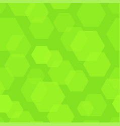abstract background with green hexagon vector image