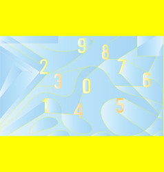 abstract background with numbers art eps10 vector image