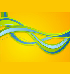 abstract colorful corporate waves background vector image
