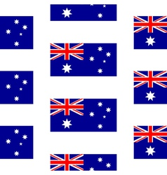 Australia flag seamless pattern vector image