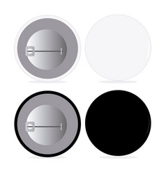 black and white pin set vector image vector image