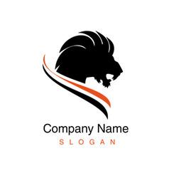 Black lion logo vector