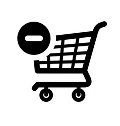 Black shopping icon vector