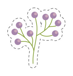 Branch flower wild image cut line vector