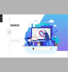 business series - search page web template vector image