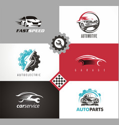 car design automobile logo vector image