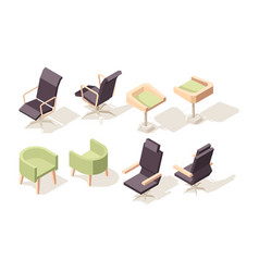 chair isometric modern wooden furniture for vector image