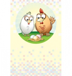 Chickens family vector