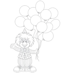 Clown with balloons vector
