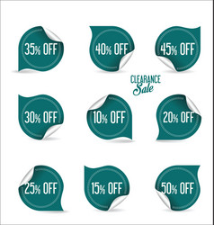 collection of paper sale stickers vector image