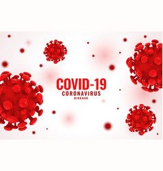 Covid19 coronavirus red virus cell spread vector