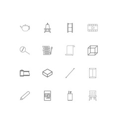 Creative process and design linear thin icons set vector