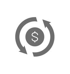 Currency exchange money transfer convert quick vector