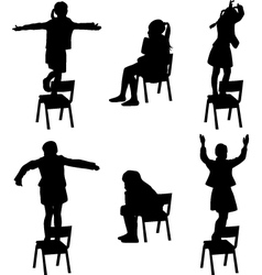 dance on chair vector image