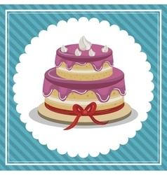 delicious cake isolated icon design vector image