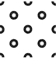 delicious donut dessert pattern seamless black vector image
