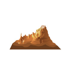 desert mountain isolated icon vector image