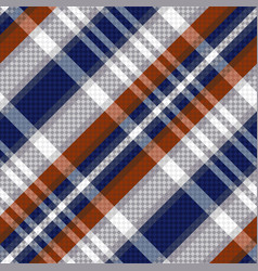 diagonal tartan seamless texture in blue and vector image