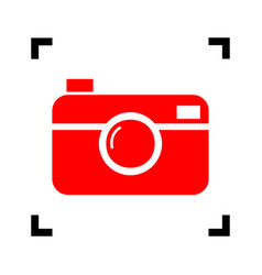 digital photo camera sign red icon inside vector image