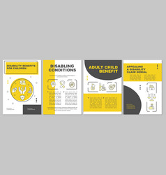 Disabling conditions brochure template vector