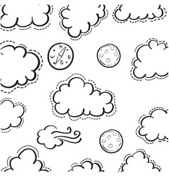 Doodle of cloud weather theme vector