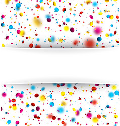 festive background with colorful confetti vector image